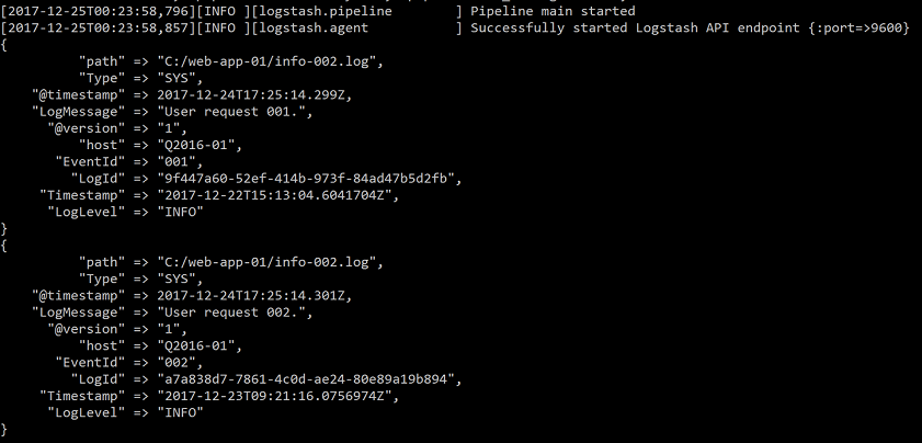 Visualize logs of existing system using Logstash, ES and Google